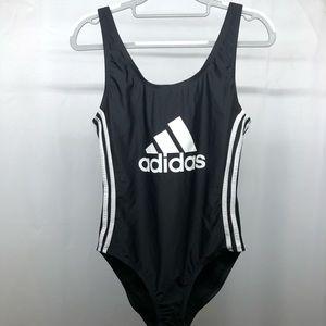 NWOT Adidas black/white logo swimsuit size L
